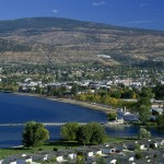 Looking east over the north end of Penticton which is the south end of Okanagan Lake.